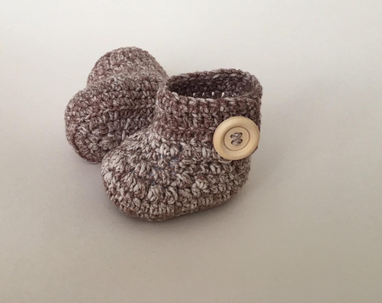 Beige baby booties baby shoes crochet baby shoes crib shoes baby baby footwear booties baby slippers crochet