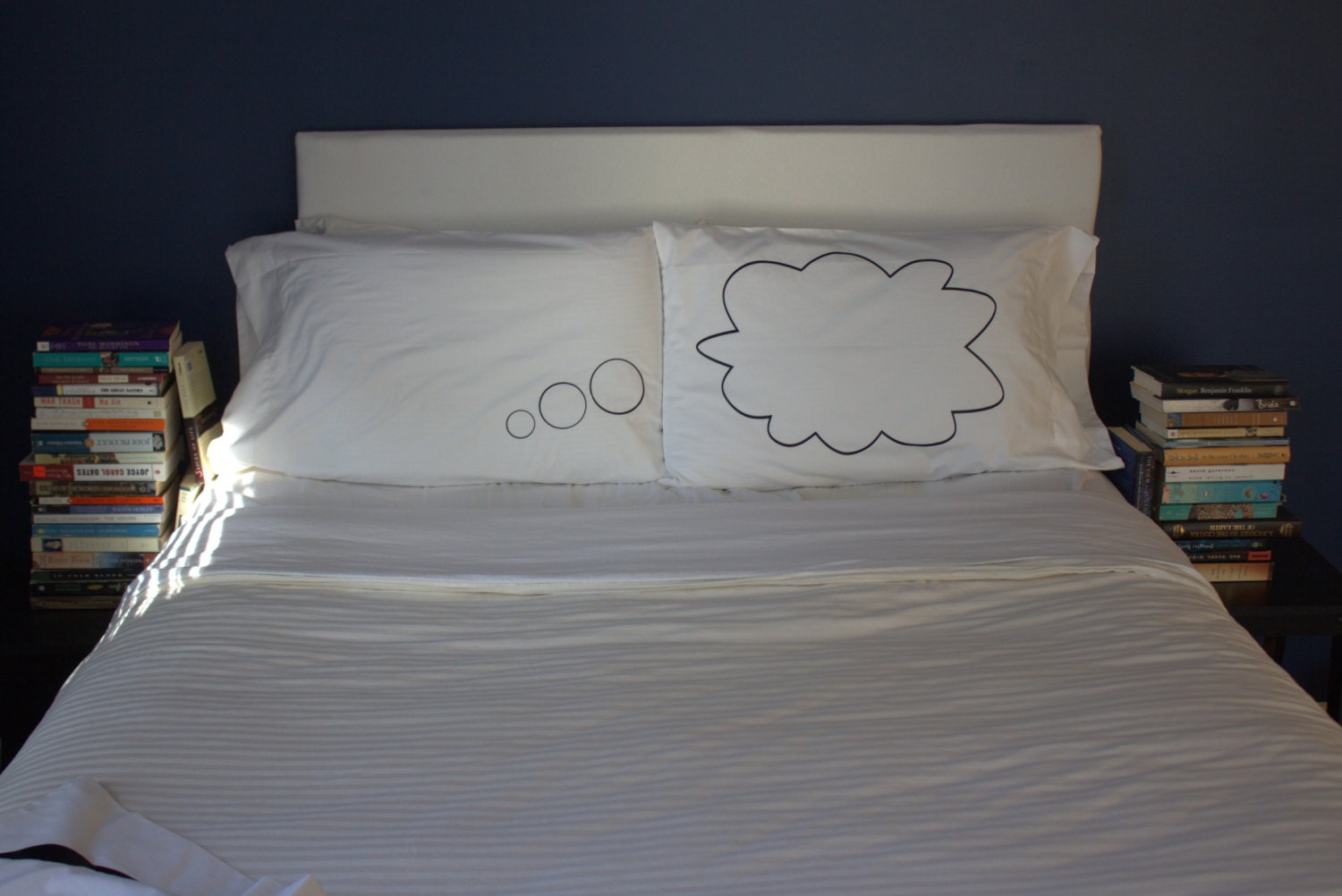 Unique Thought Bubble Pillow Case For Weddings, Couples Love Pillowcases - OSusannahs