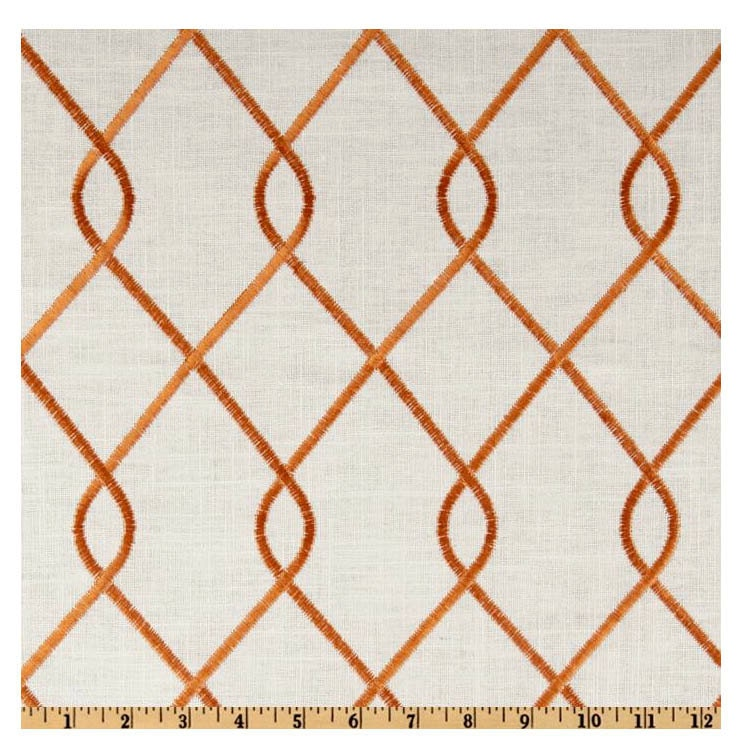 Curtain panels 50 quot x up to 9 6 quot 2 panels duralee rico papaya orange