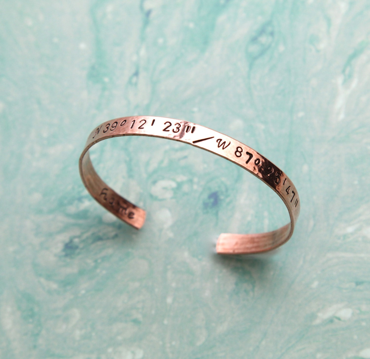 Personalized Bracelet, Geographical Coordinates Bracelet, Latitude and Longitude Bracelet, Secret Message Bracelet, Personalized Jewelry