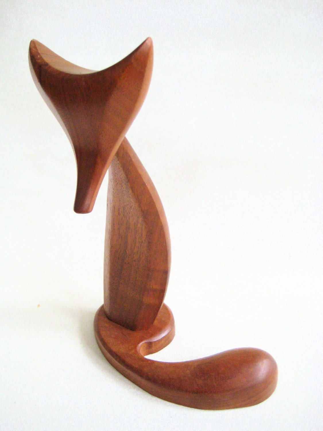 Teak Fox Sculpture