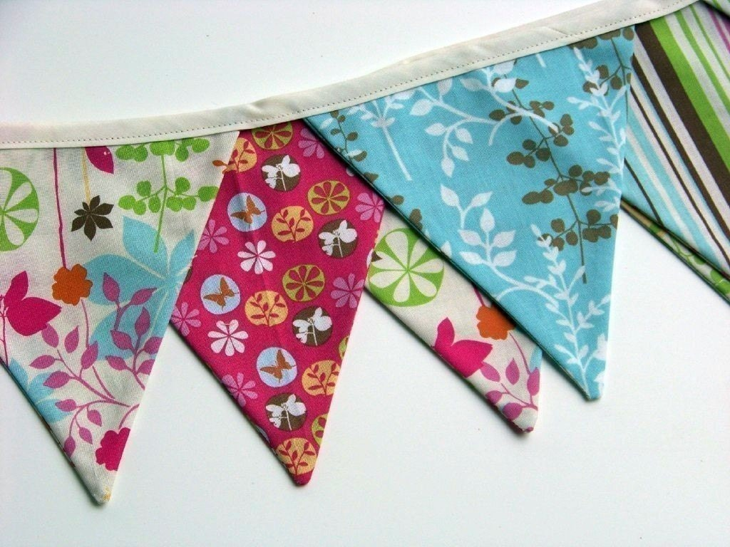 Enchanted Forest Fabric Bunting Banner Flags
