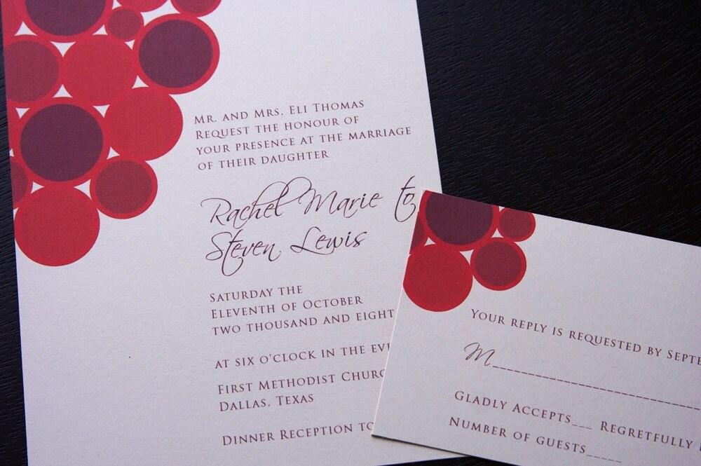 Wedding invitation 22 - Set of 100