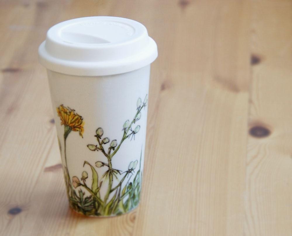 ceramic eco travel mug - Buds and Marigolds