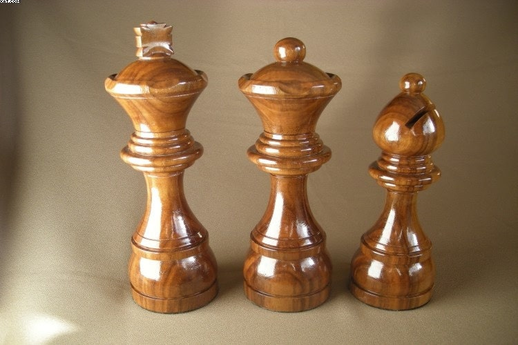 Popular Items For Large Chess Pieces On Etsy