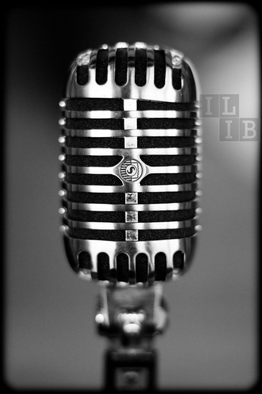 Vintage Microphone - 12x18 Photographic Print - ILIVEINBEAUTY
