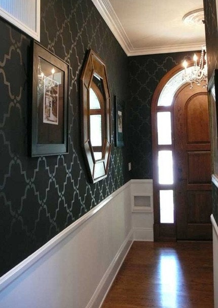 Foyer Wallpaper List : Entryway projects victorian in the rough