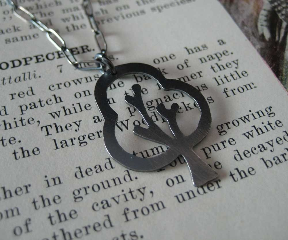 Etsy :: tree necklace in black from etsy.com