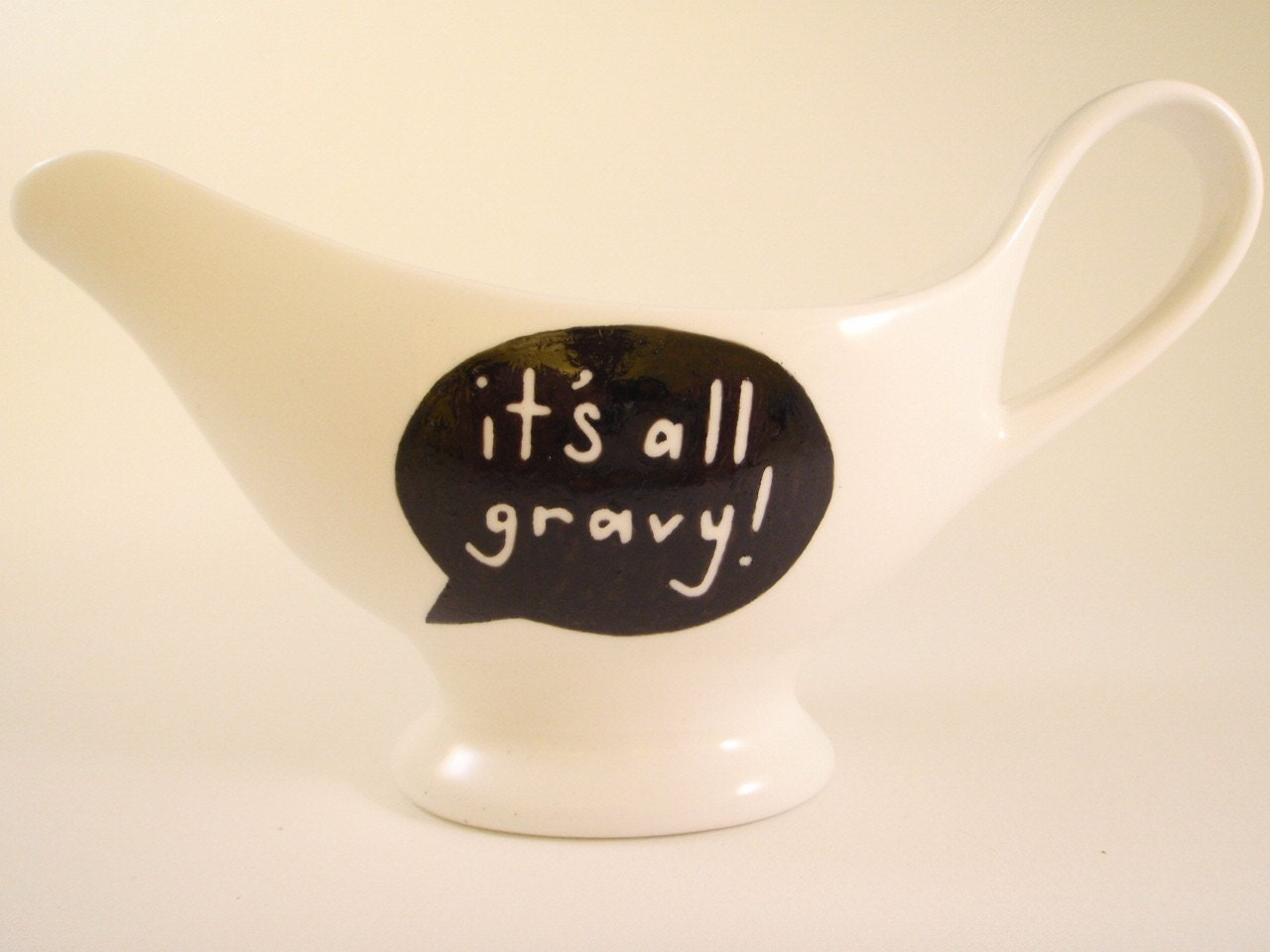 Hand Painted Gravy Boat