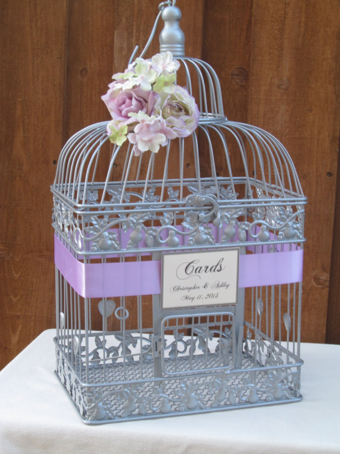 Silver Wedding Gift Card Holder : EtsyYour place to buy and sell all things handmade, vintage, and ...