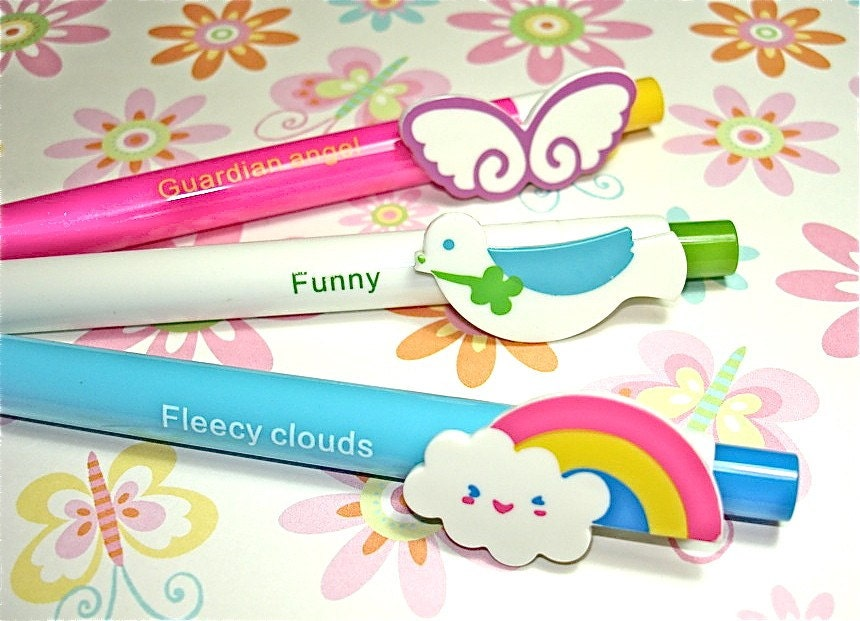 Zakka Rainbow Clouds Bird Animal Ballpoint Pens