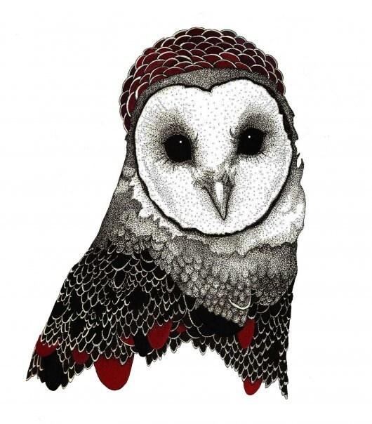 8x10 Print - Owl Queen