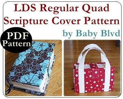 PATTERN for LDS Regular Quad Scripture Cover