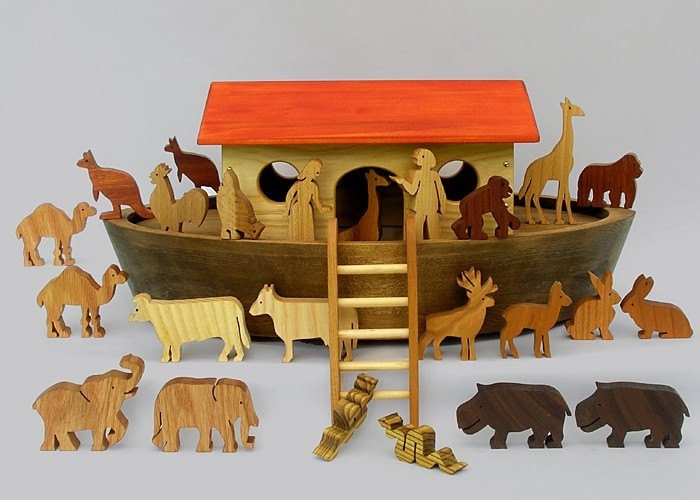 Wooden Noah S Play Ark With Animals Handmade By Arksandanimals