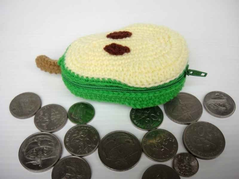 Crochet Fruit Purse - PEAR