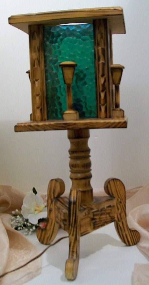 Handcrafted Wooden Lamp by MandiLeighs on Etsy from etsy.com