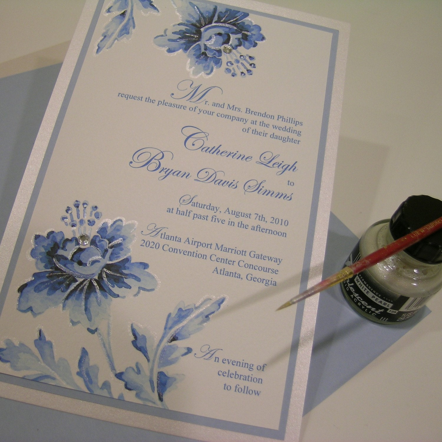 Once in a blue moon - Wedding invitation sample