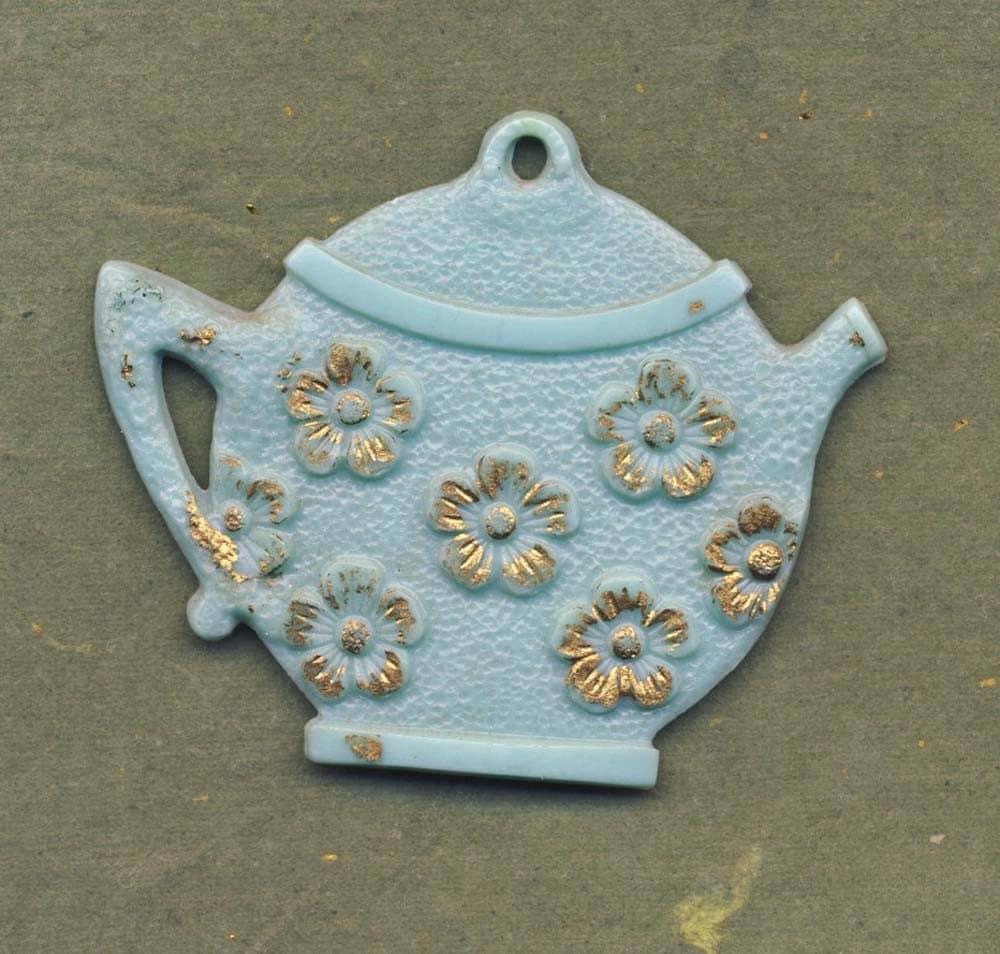 Three Vintage Teapot  Window Shade Pulls