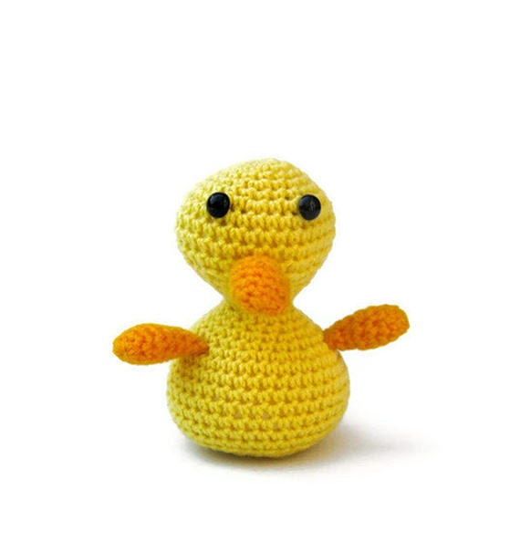 Amigurumi Duckling : Amigurumi duck crochet toy plush yellow rubber duckie by ...