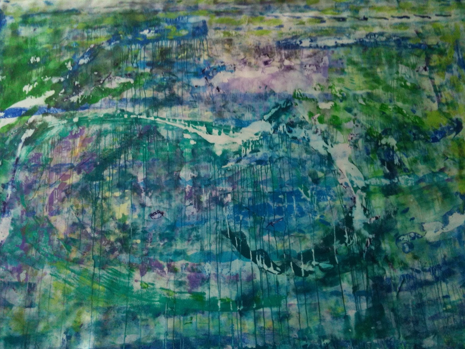 GIGANTIC Blue, Green and Purple Abstract