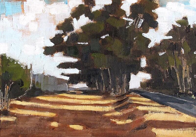 Painting of San Diego Eucalyptus Trees
