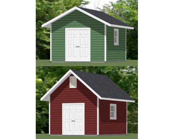 12x16 shed pdf floor plan 192 sq ft by excellentfloorplans for Tiny house plans 12x16 192 sq ft