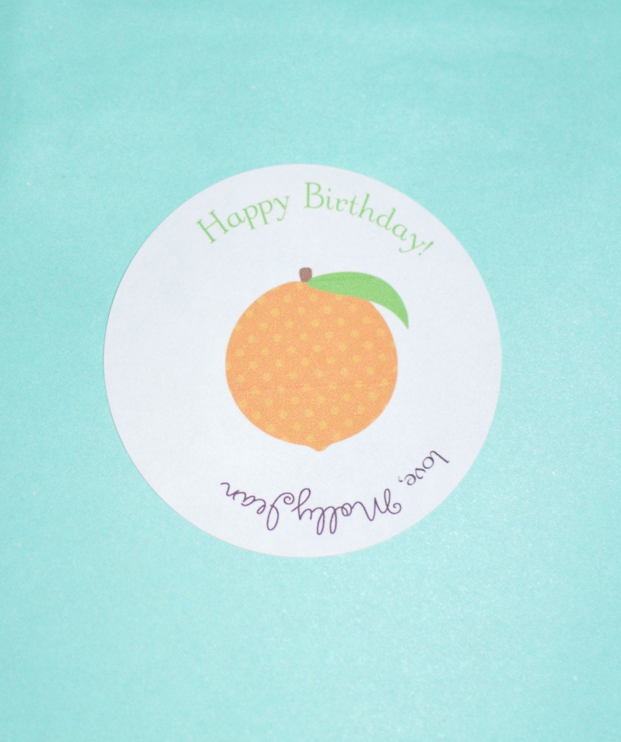 2-inch Round Gift tags/stickers
