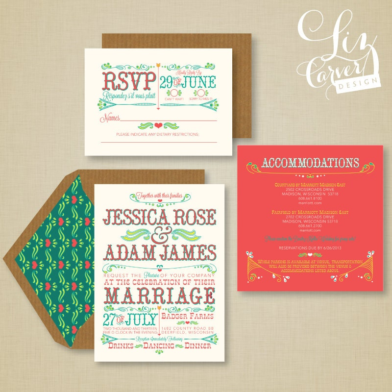 Farmstand Wedding Invitation