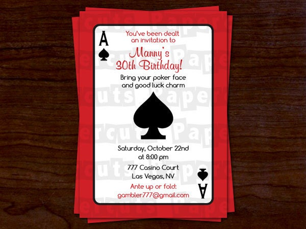 Casino Party Invites is perfect invitation layout