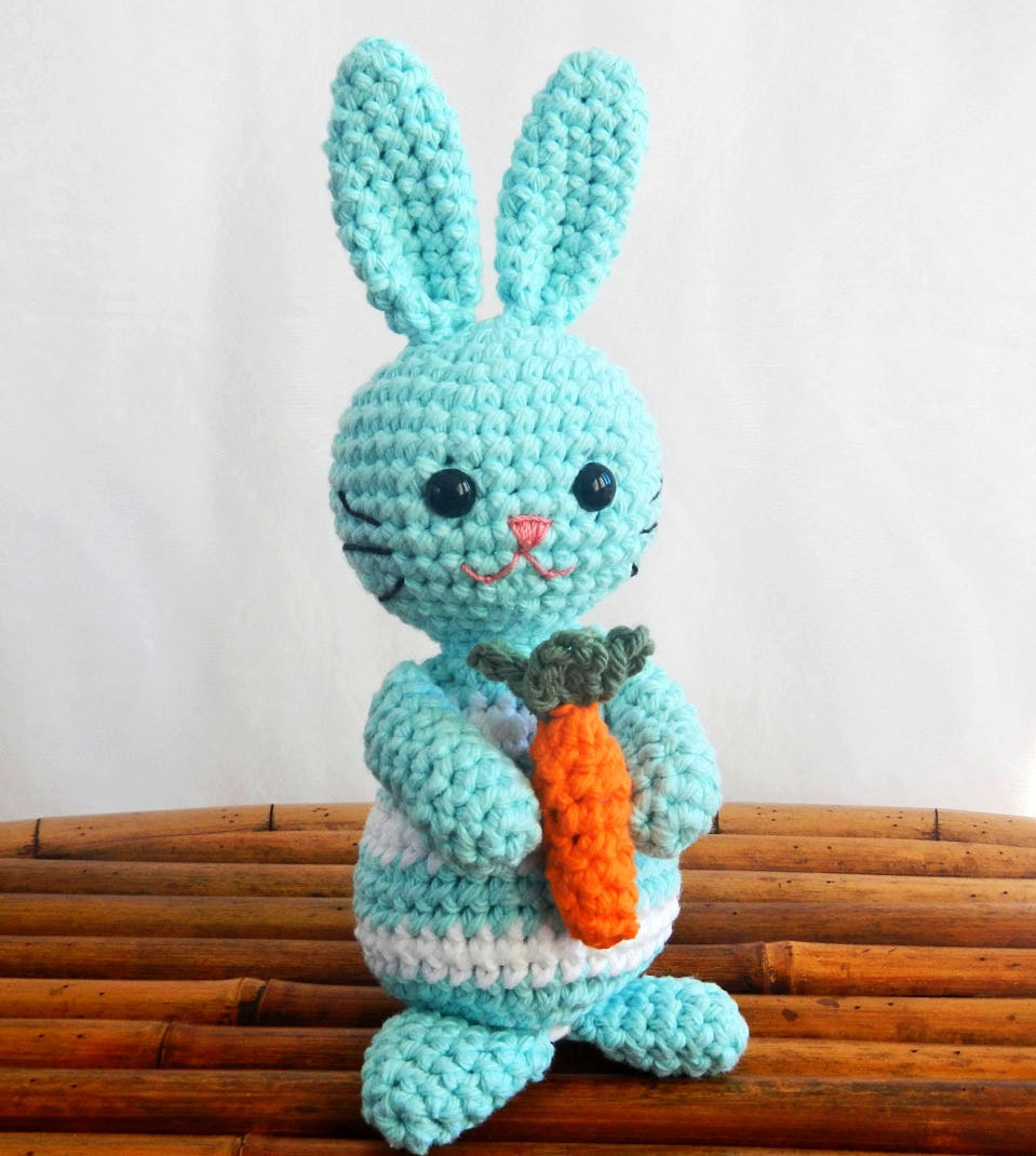 PDF Crochet Pattern for Amigurumi Bunny Rabbit, Spring SALE - HerterCrochetDesigns