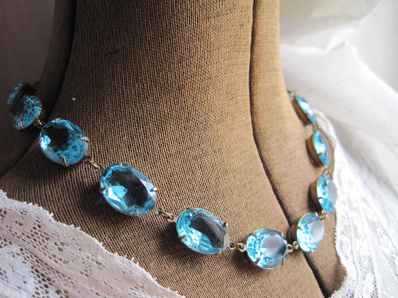 aquamarine, georgian necklace, anna wintour, sacred cake