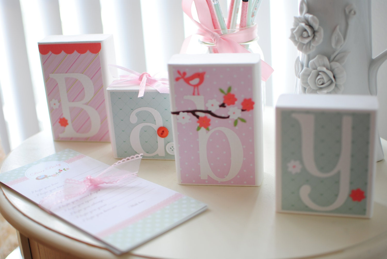 Baby shower decoration cherry blossom baby by auntjjsattic for Baby shower function decoration