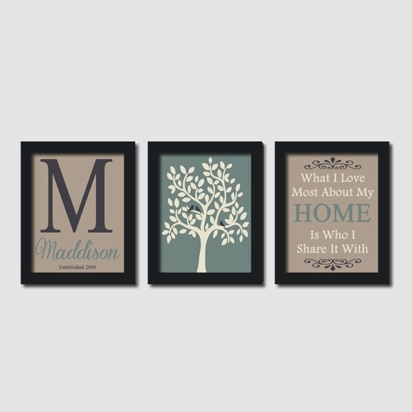 Custom Family Monogram Initial Home Neutral By