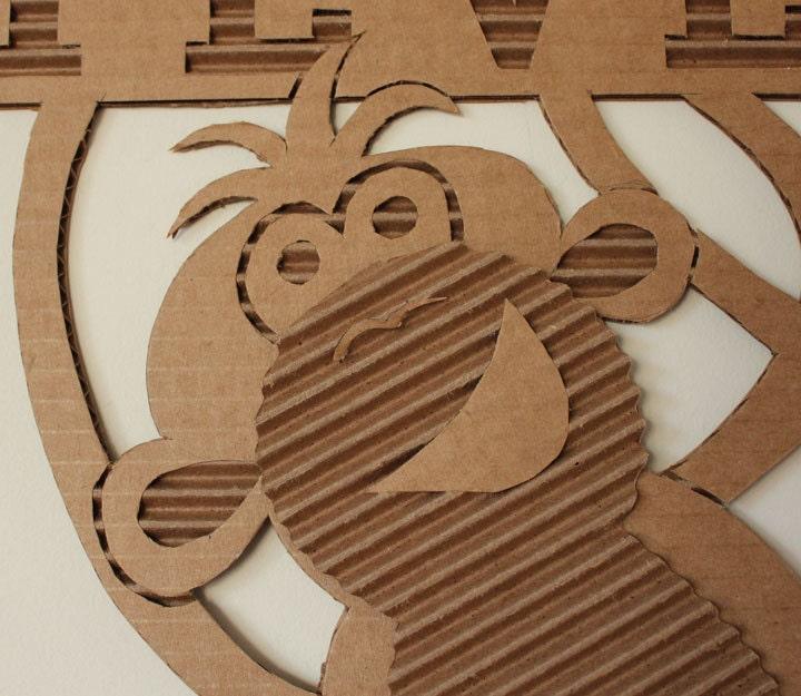 Cardboard Monkey