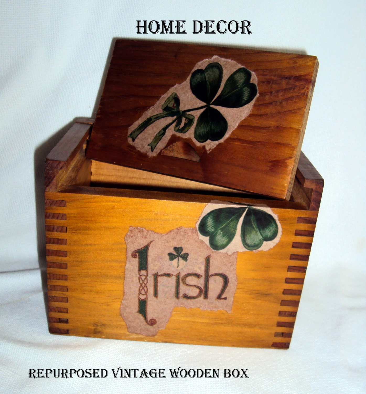 Items similar to home decor irish shamrock ireland for Home decorations ireland