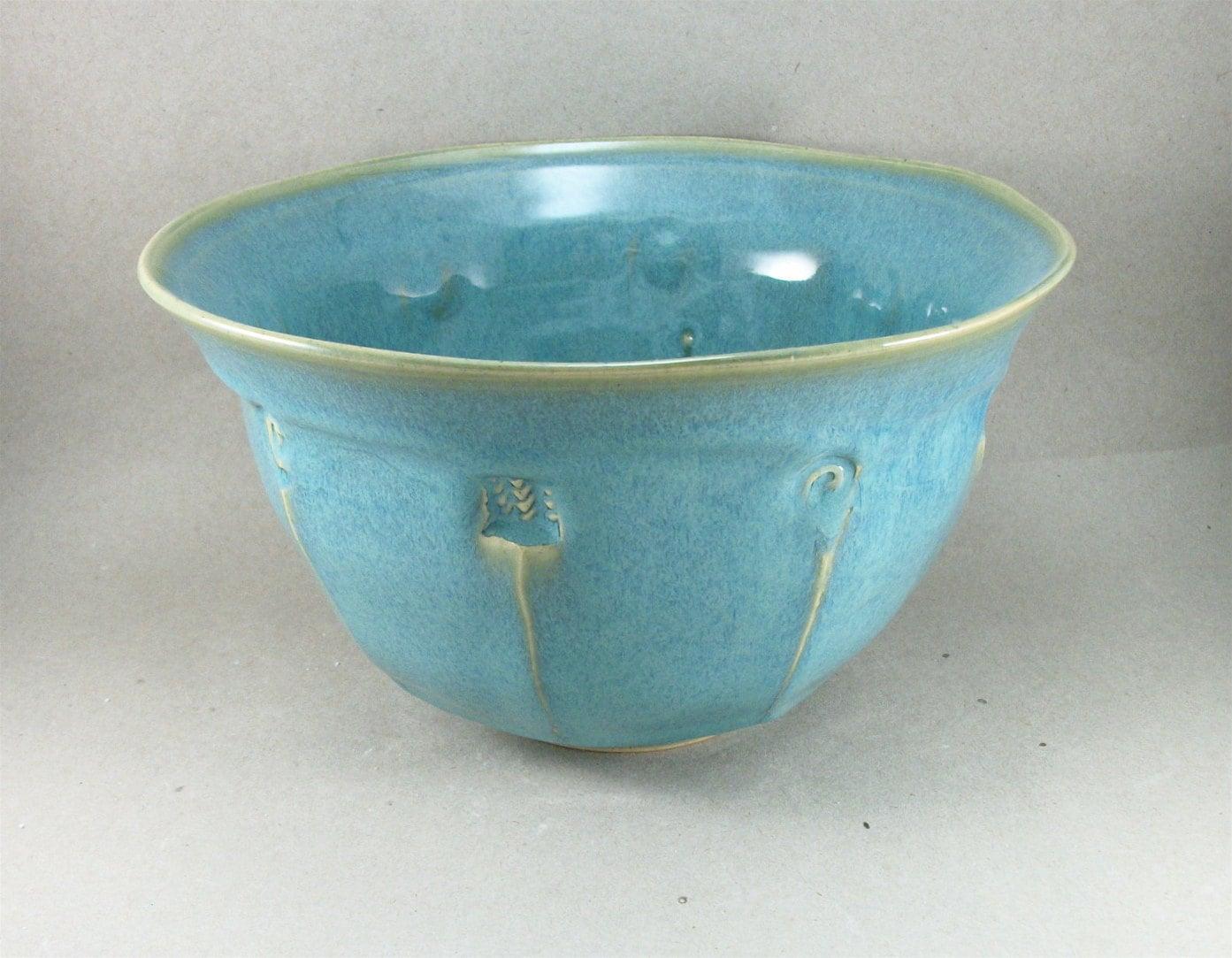 turquoise glazed bowl