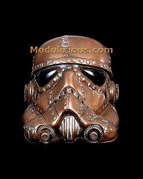 Steampunk Stormtrooper  Helmet Paper  Giclee Print Star Wars - kyoob