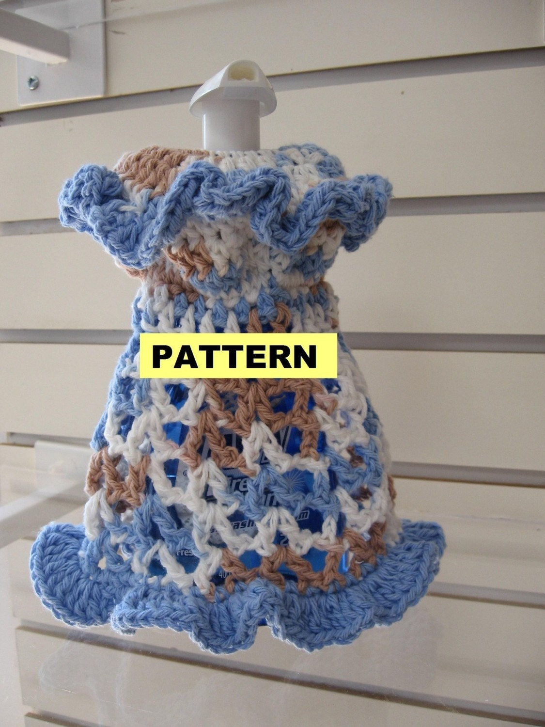 CROCHET PATTERNS Dishcloth Dresses 2 Styles by ...