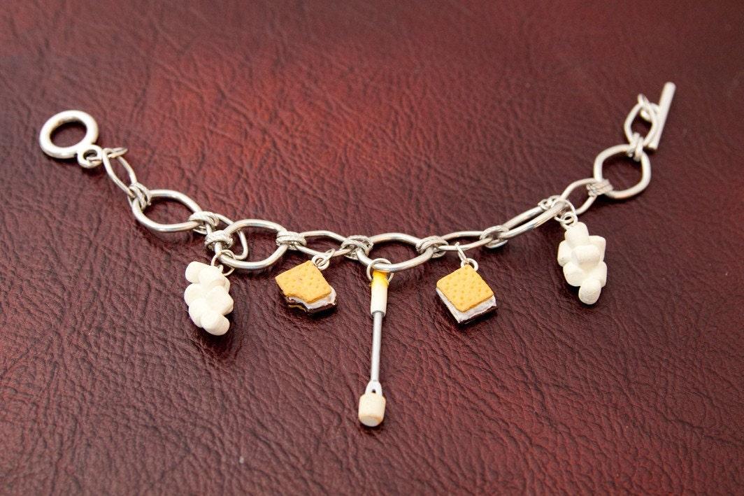 Smores Marshmallow Charm Bracelet