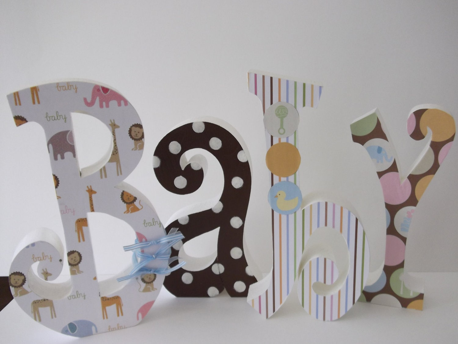 baby letters wood letters nursery letters by posiesandpoppies. Black Bedroom Furniture Sets. Home Design Ideas