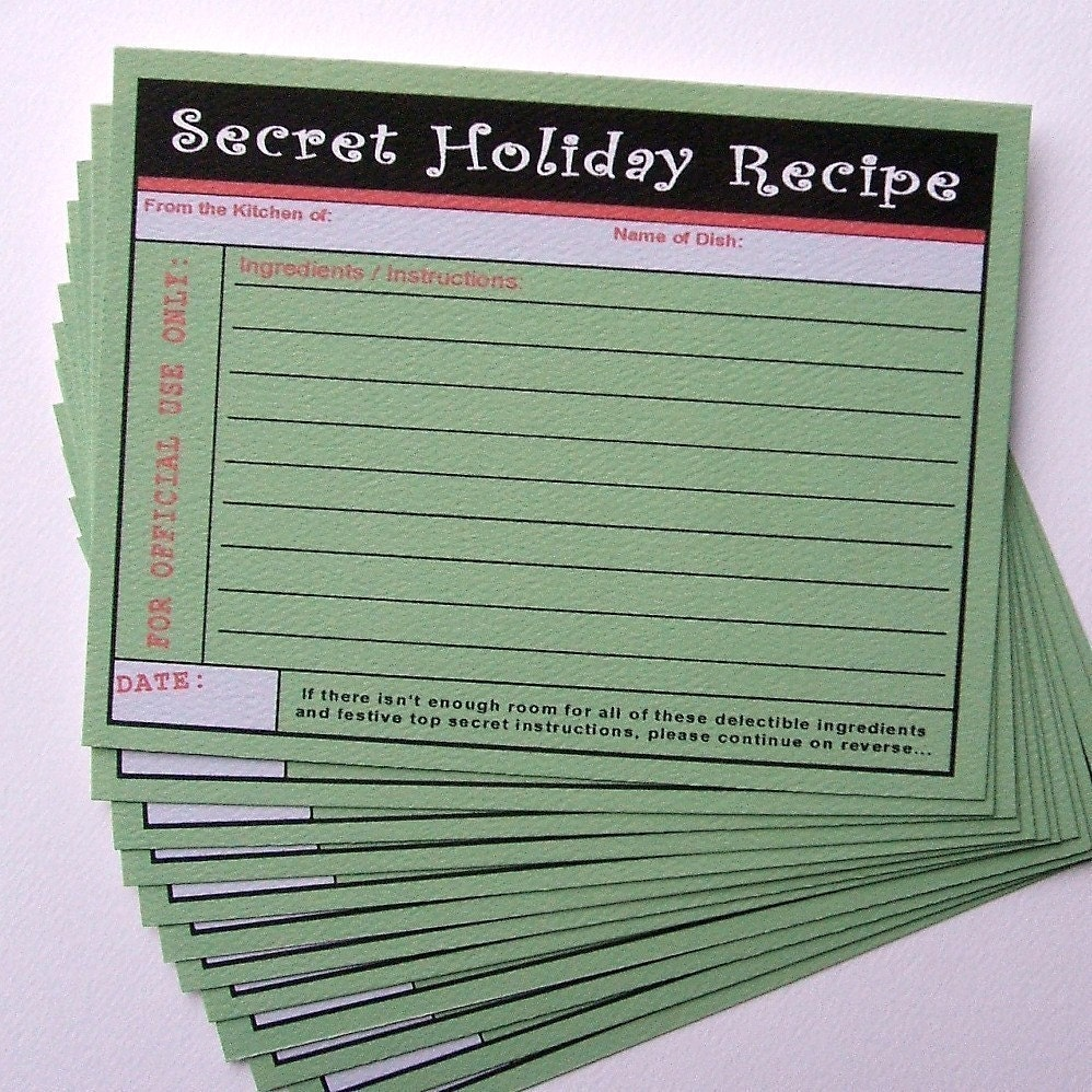 Secret Holiday Recipe Cards (12)