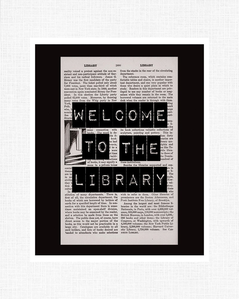 Welcome to the Library - 8x10 Print - ibelieveinstory