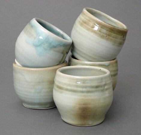 Blue Sea Grass Tea bowls