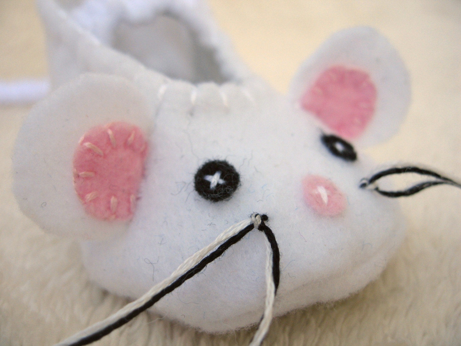 White Mouse Baby  Slippers - NEW