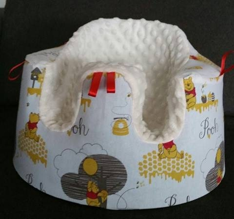 Handmade cover for Bumbo seat  with or without holes for straps baby shower Winnie the Pooh fabric