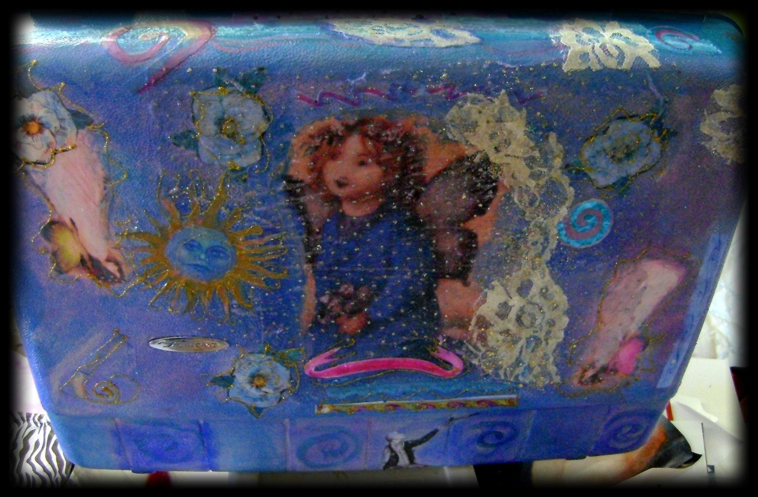 three graces fairie blessed suitcase