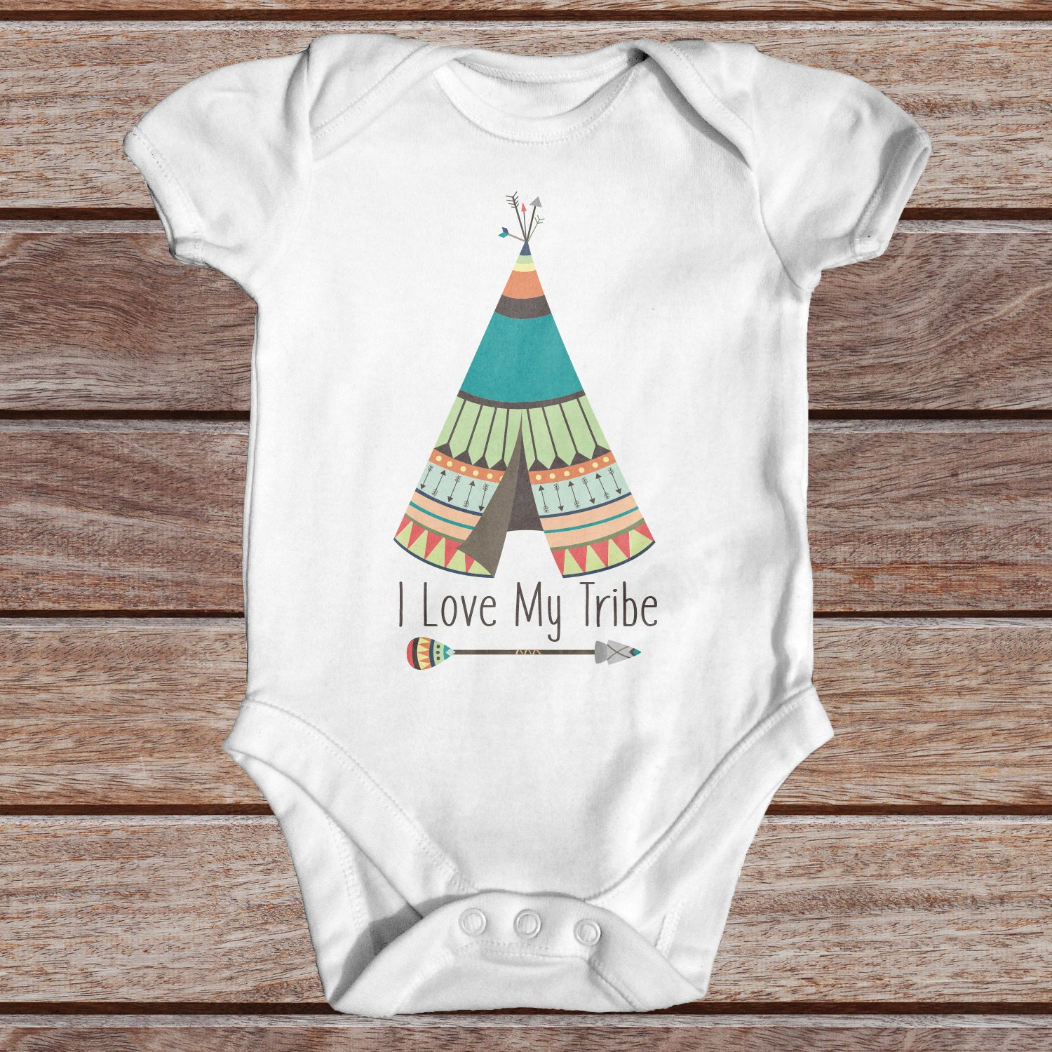 I Love My Tribe Bodysuit  Cute Baby Clothes  Tribal Baby Bodysuit  Cute Baby Clothes  Boho Baby Clothes  Wild Baby Bodysuit  Newborn