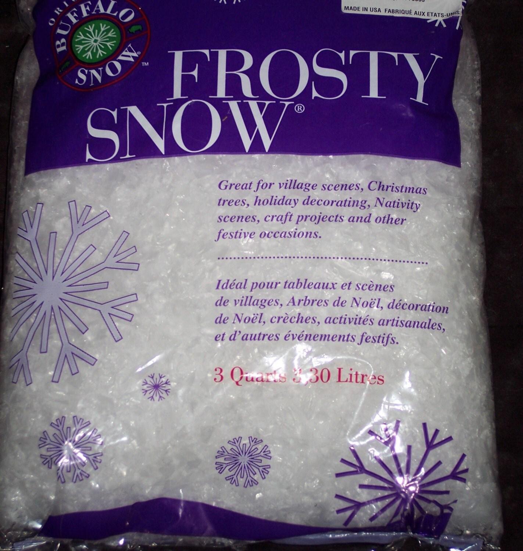 Artificial snow flakesfrosty snowbuffalo by