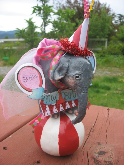 Circus elephant cake topper - photo#15