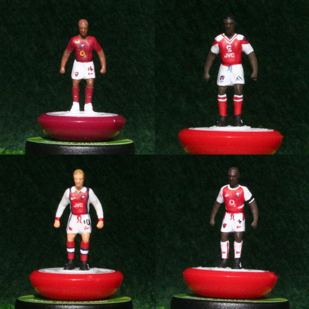 Arsenal Handpainted Subbuteo Figure Set (x4)  Henry Wright Bergkamp and Viera